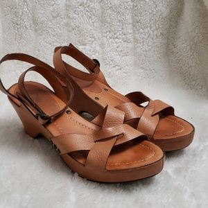 Frye Cognac leather ankle strap Sandal